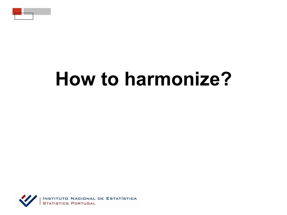 How to harmonize