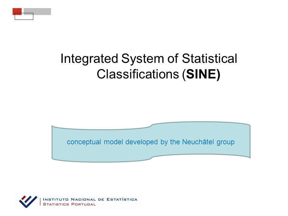 Integrated System of Statistical Classifications (SINE) conceptual model developed by the Neuchâtel group