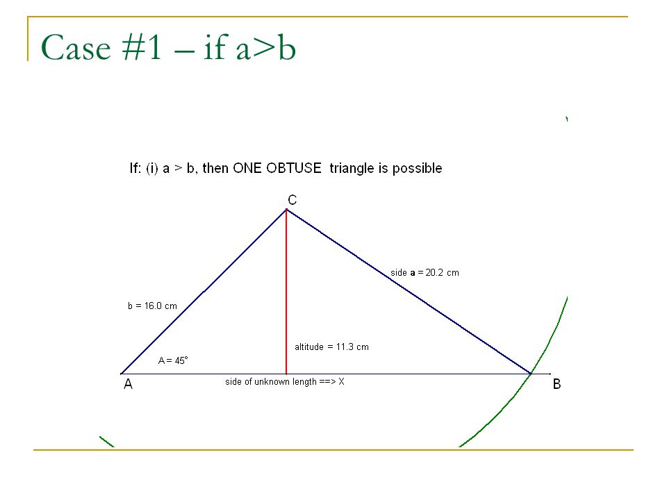 Case #1 – if a>b