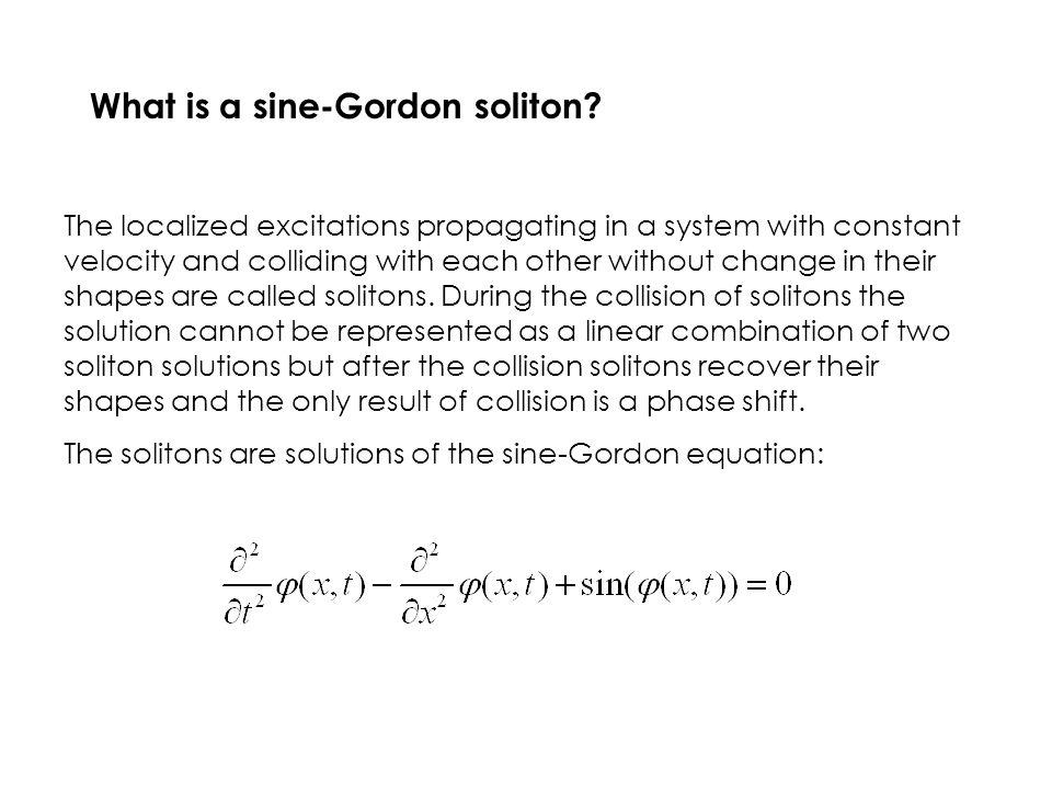 What is a sine-Gordon soliton.