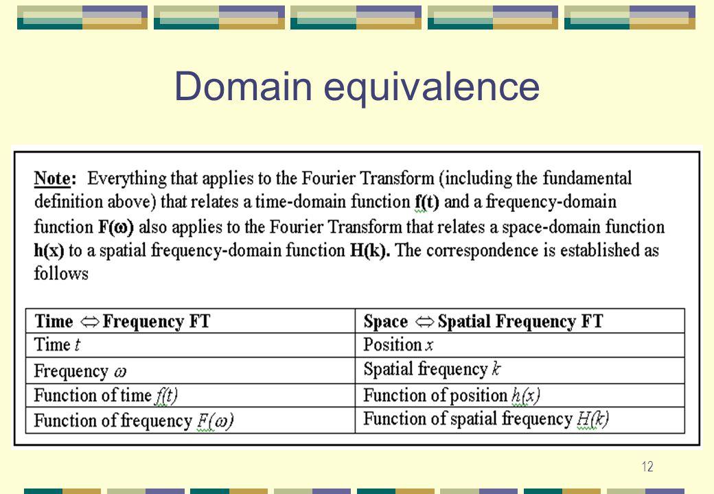 12 Domain equivalence