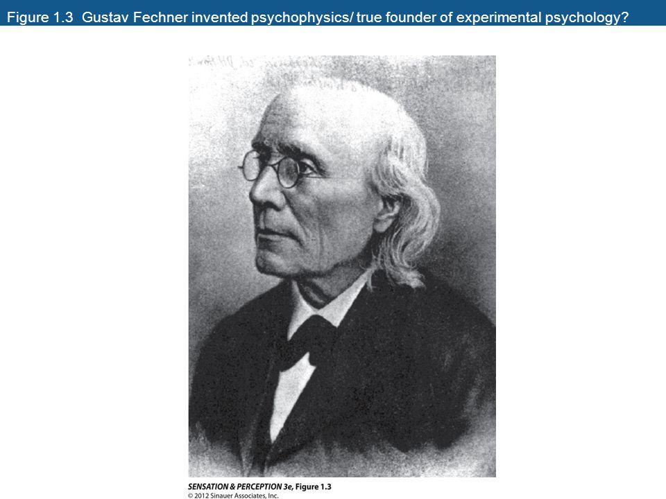 Figure 1.3 Gustav Fechner invented psychophysics/ true founder of experimental psychology?