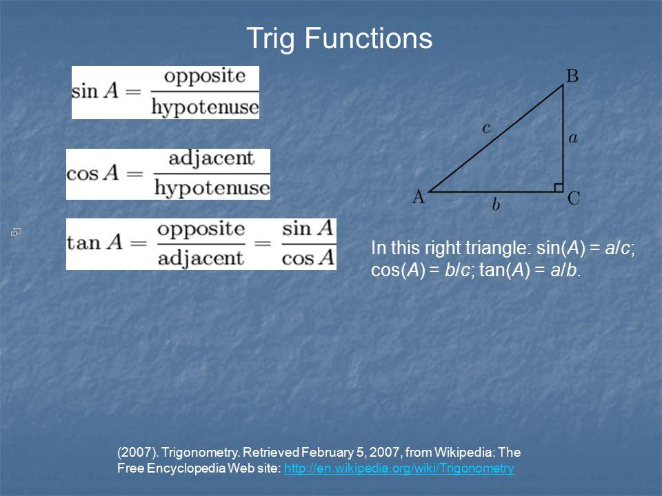 (2007). Trigonometry.