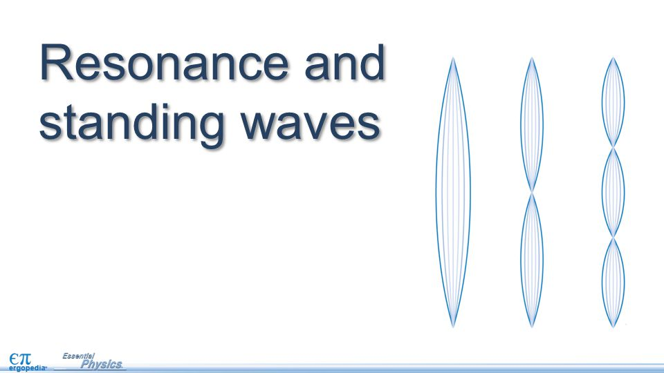 Resonance and standing waves