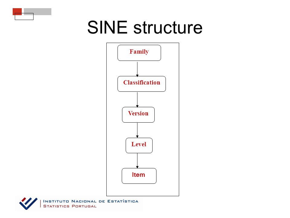 SINE structure Level Item Family Classification Version