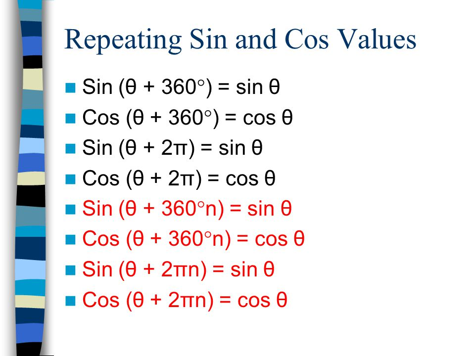 Example 4 Solve sin θ = 1 for θ in degrees.