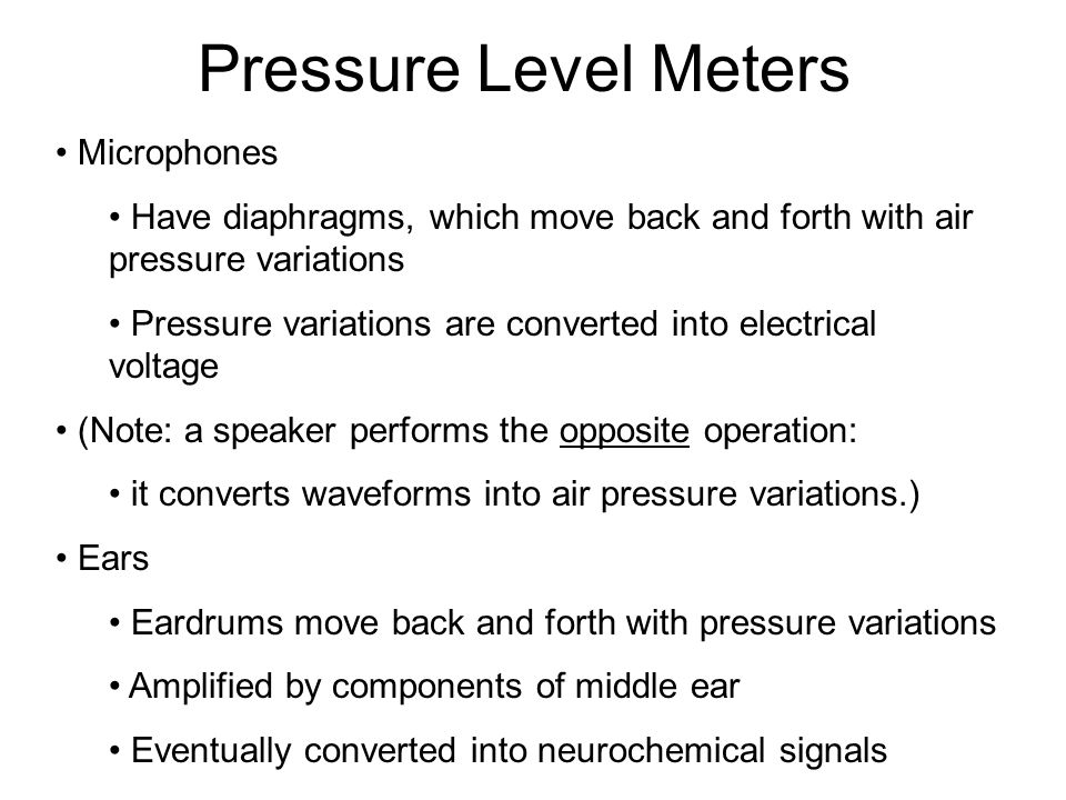More Visualization It is possible to convert a compression wave, like sound, into a transverse wave representation by using a pressure level meter.