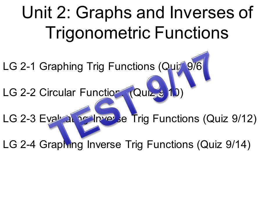 The Graph of Sine x (angles) y (evaluate for sine) 0o0o 90 o 180 o 270 o 360 o