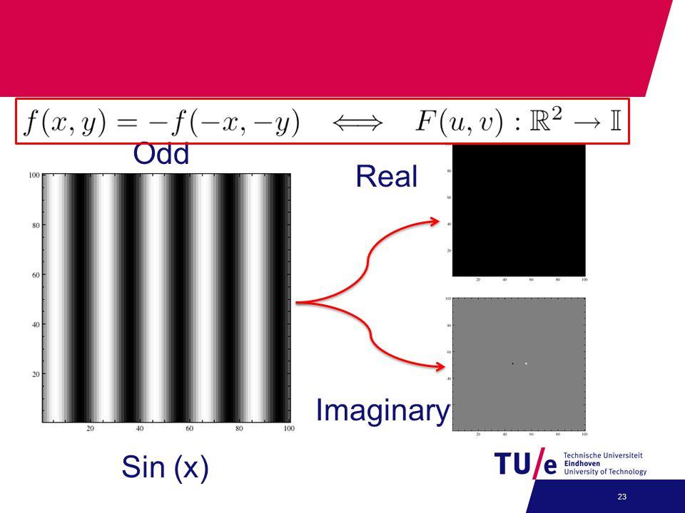 23 Real Imaginary Sin (x) Odd