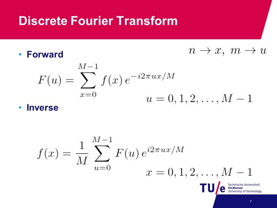 Discrete Fourier Transform Forward Inverse 7
