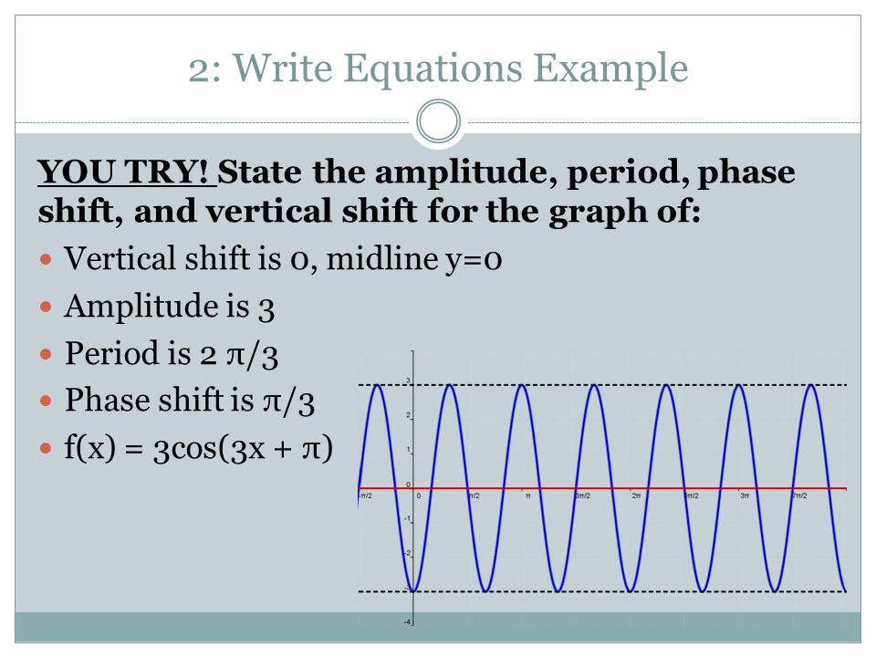 2: Write Equations Example YOU TRY.