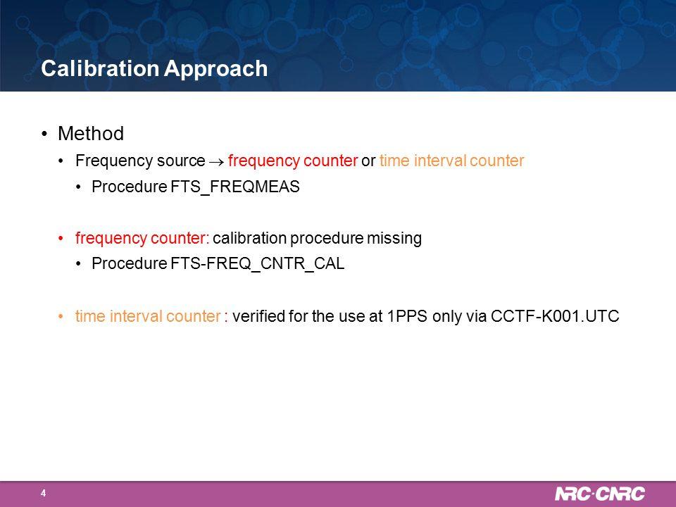 Calibration Procedure: FTS-FREQMEAS 5