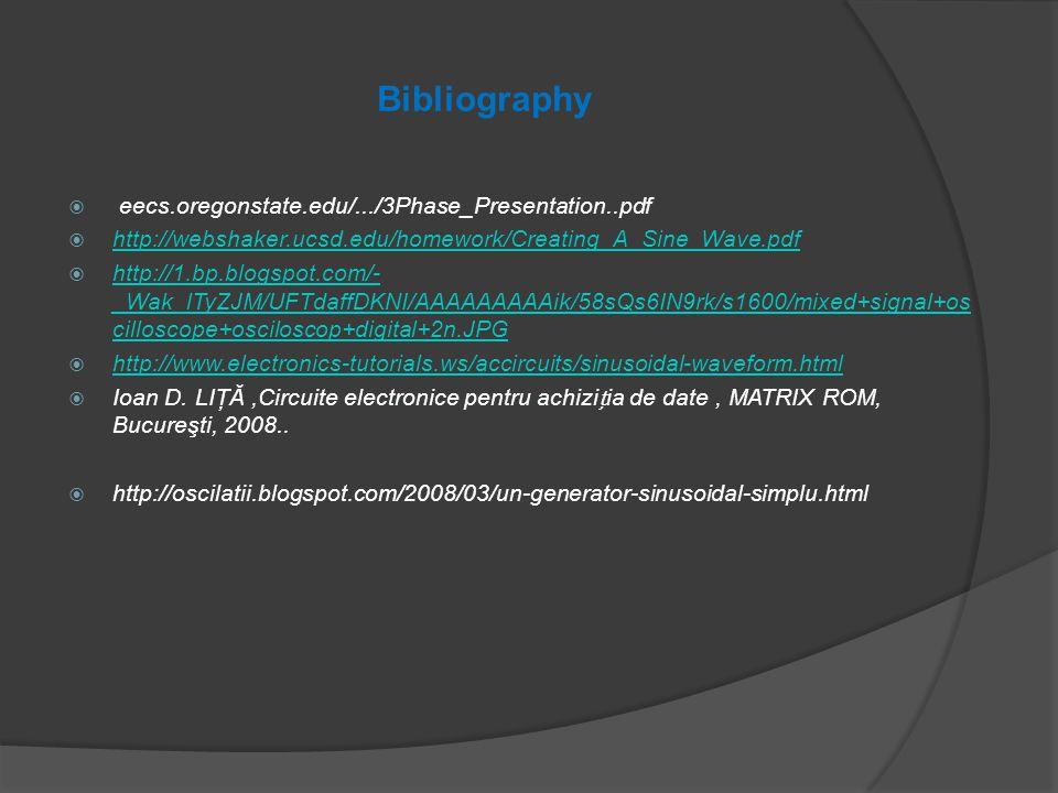 Bibliography  eecs.oregonstate.edu/.../3Phase_Presentation..pdf  http://webshaker.ucsd.edu/homework/Creating_A_Sine_Wave.pdf http://webshaker.ucsd.e