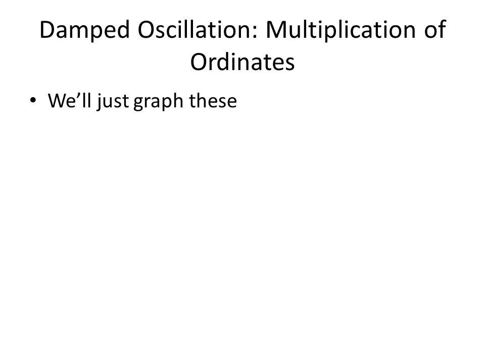 Damped Oscillation: Multiplication of Ordinates We'll just graph these