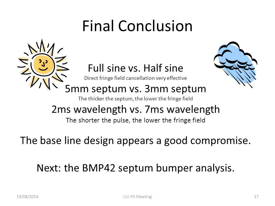 Final Conclusion Full sine vs.