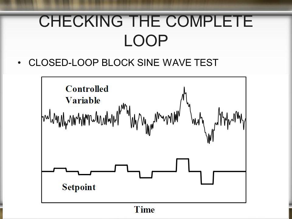 CHECKING THE COMPLETE LOOP CLOSED-LOOP BLOCK SINE WAVE TEST