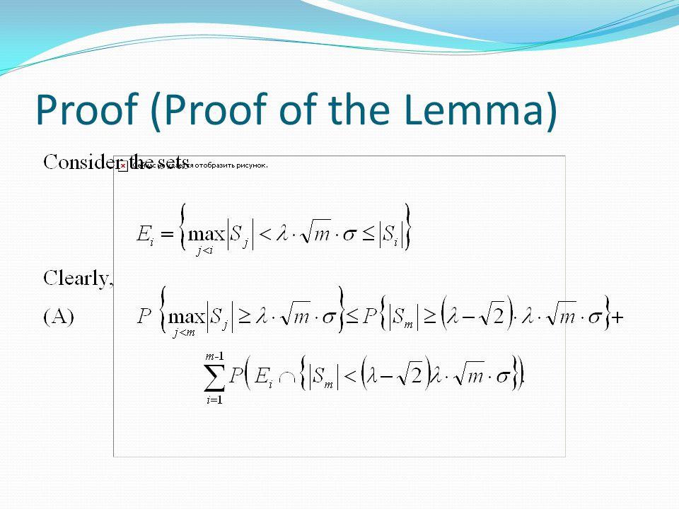 Proof (Proof of the Lemma)
