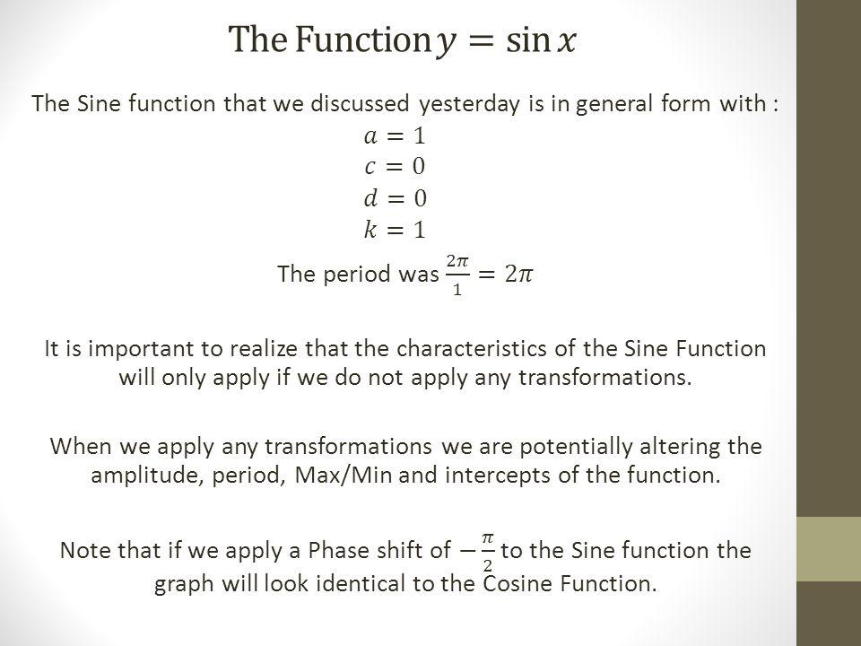 Applying Transformations Example 1