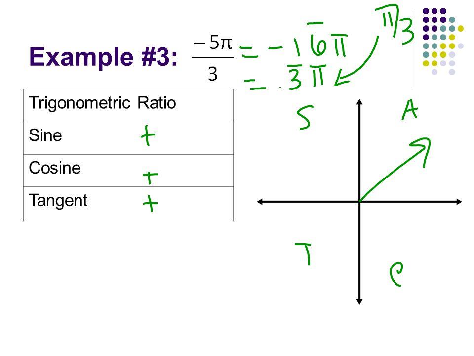 Example #3: Trigonometric Ratio Sine Cosine Tangent