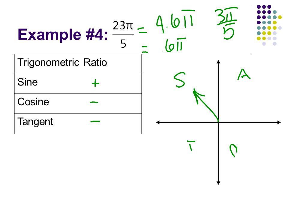 Example #4: Trigonometric Ratio Sine Cosine Tangent