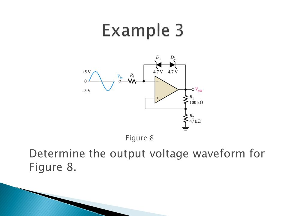 Determine the output voltage waveform for Figure 8. Figure 8