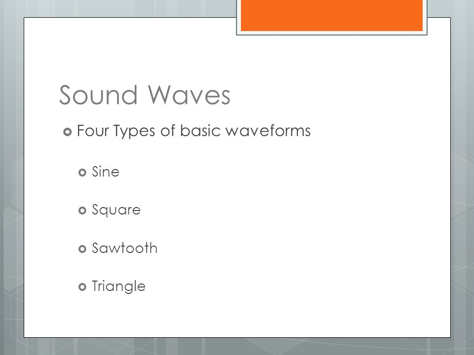 FM Synthesis  Uses FM sidebands as harmonics for synthesized waveforms.