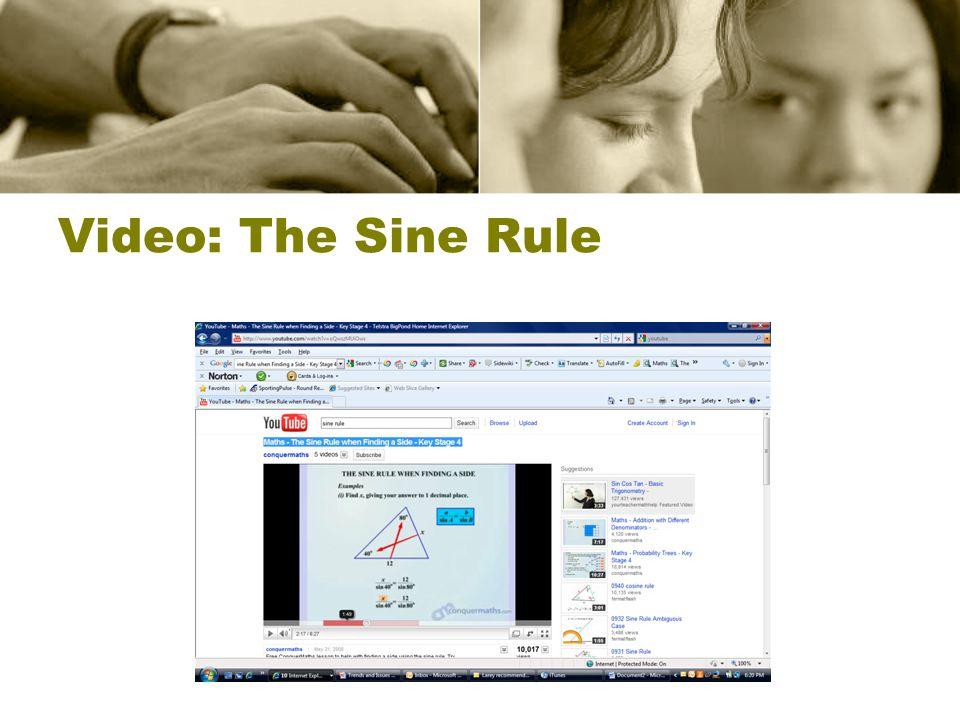 Video: The Sine Rule