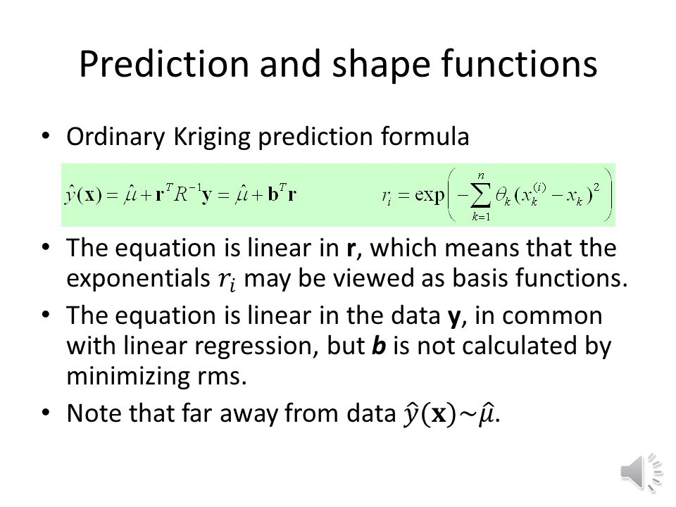 Prediction and shape functions