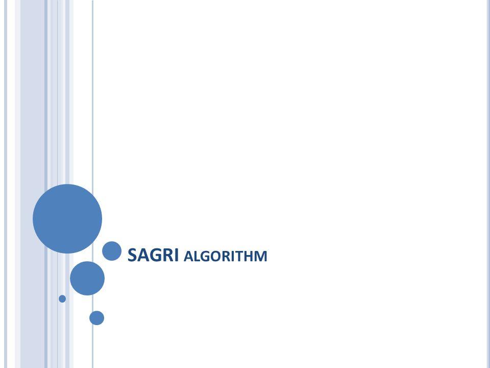 SAGRI ALGORITHM