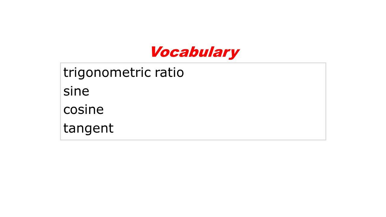trigonometric ratio sine cosine tangent Vocabulary