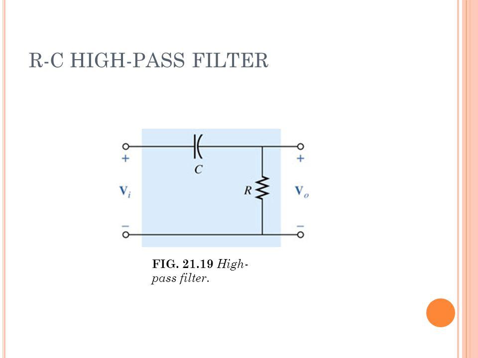 R-C HIGH-PASS FILTER FIG. 21.19 High- pass filter.