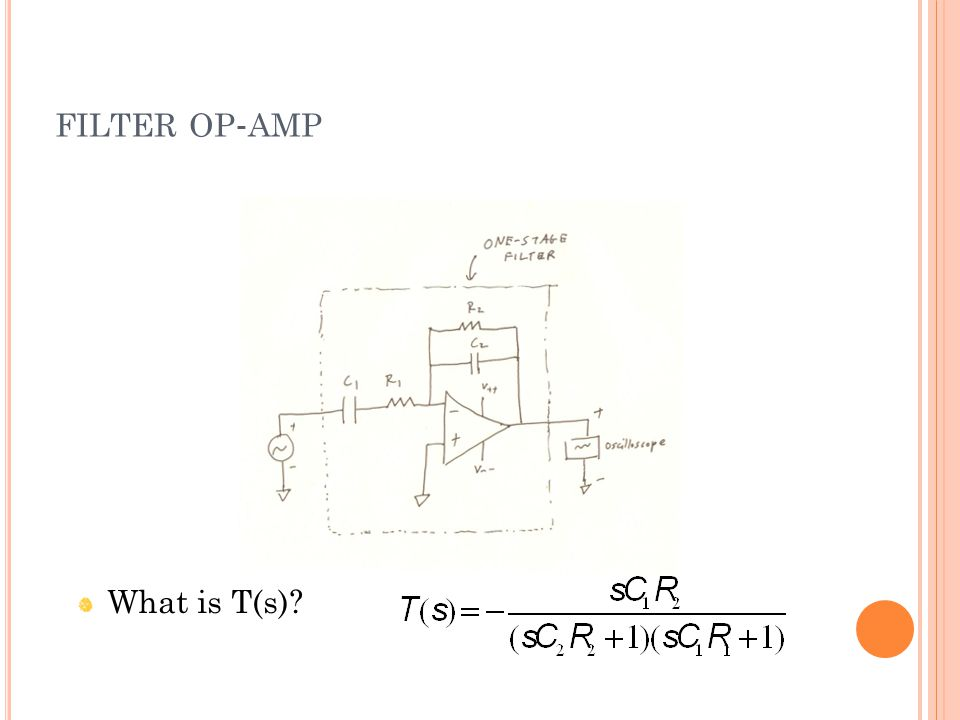 FILTER OP - AMP What is T(s)