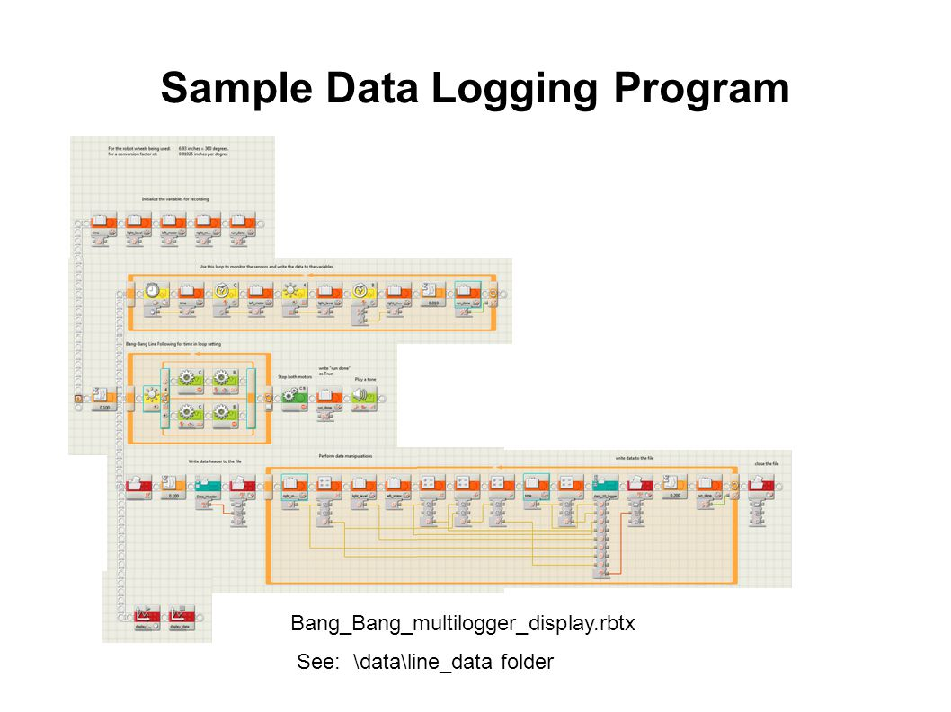 Sample Data Logging Program Bang_Bang_multilogger_display.rbtx See: \data\line_data folder