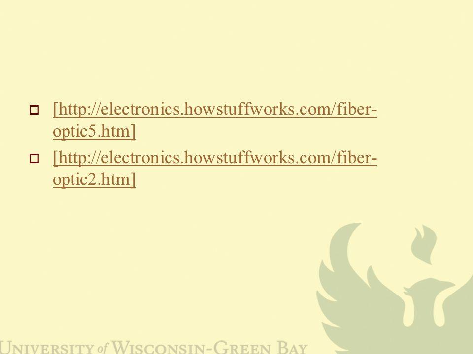  [http://electronics.howstuffworks.com/fiber- optic5.htm] [http://electronics.howstuffworks.com/fiber- optic5.htm]  [http://electronics.howstuffworks.com/fiber- optic2.htm] [http://electronics.howstuffworks.com/fiber- optic2.htm]