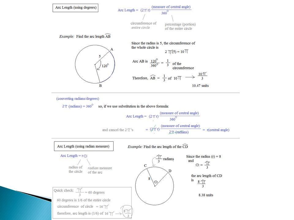 20 Days Three days One radian is the measure of the central – Central Angle Worksheet