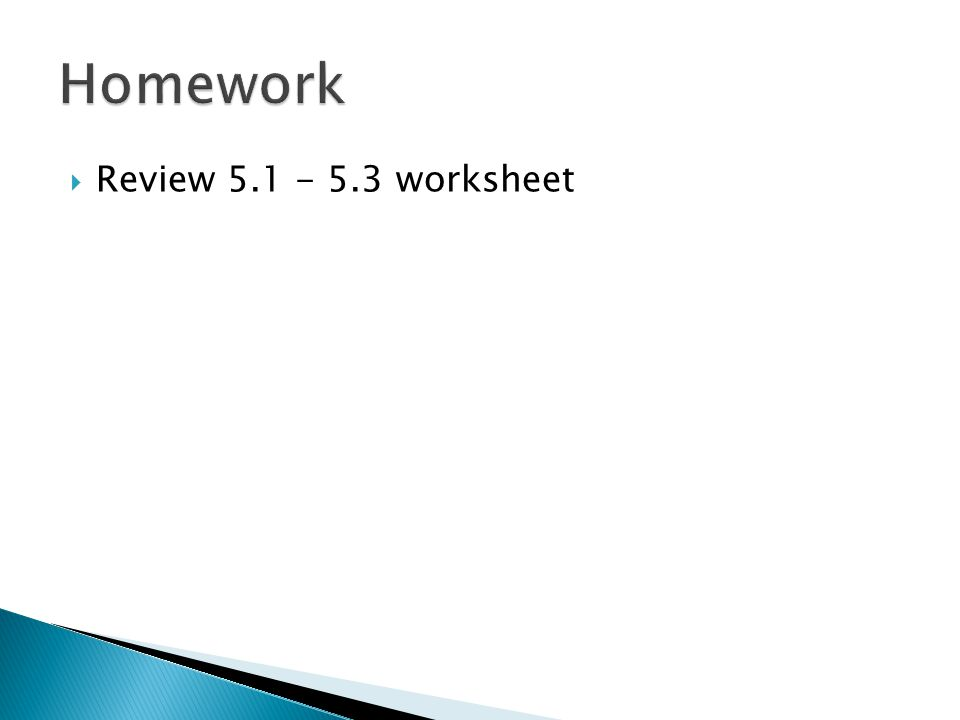  Review 5.1 - 5.3 worksheet