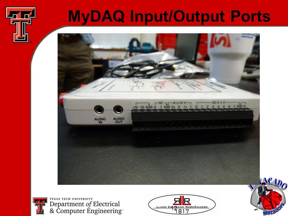 12 MyDAQ Input/Output Ports
