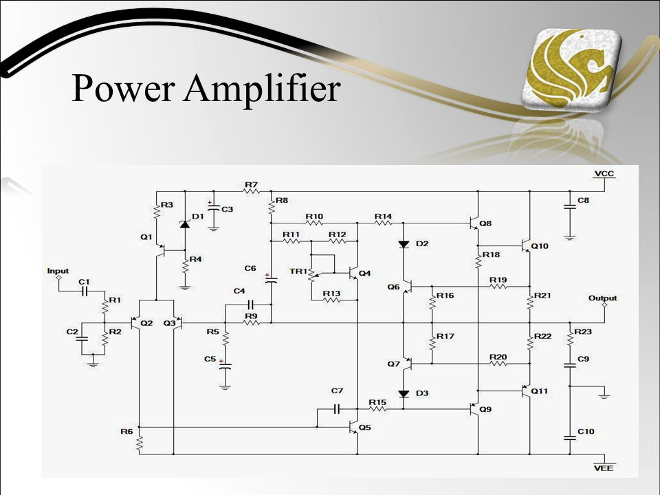 Power Amplifier Schematic