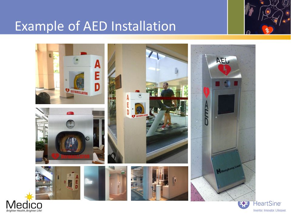 Example of AED Installation