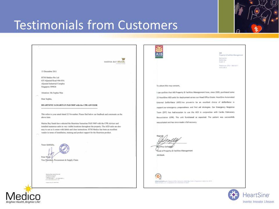 Testimonials from Customers
