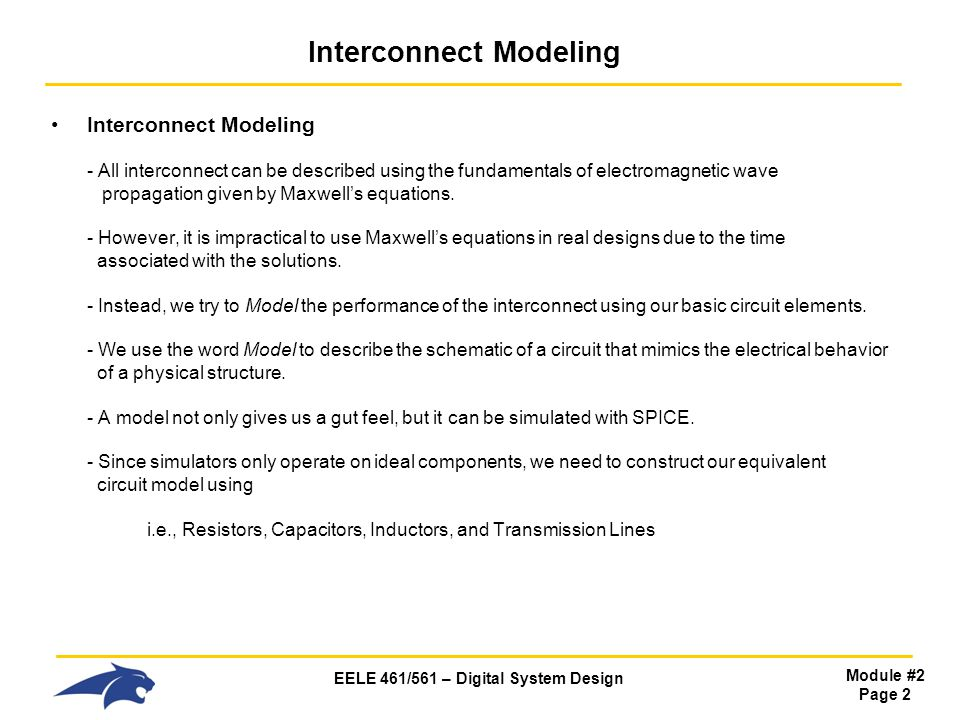 EELE 461/561 – Digital System Design Module #2 Page 23 Impedance (L) Z of an Inductor Frequency Domain - In the frequency domain, we only have sine waves with Magnitude, Frequency, and Phase.