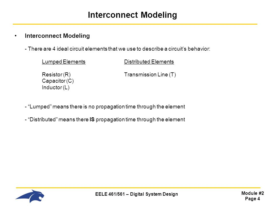 EELE 461/561 – Digital System Design Module #2 Page 25 Impedance (L) Z of an Inductor Frequency Domain - In the Frequency Domain, the magnitude of the impedance is: - Note this shows a linear relationship between Impedance and Frequency - This verifies what we saw in the Time Domain: 1) At DC, an inductor looks like a SHORT.