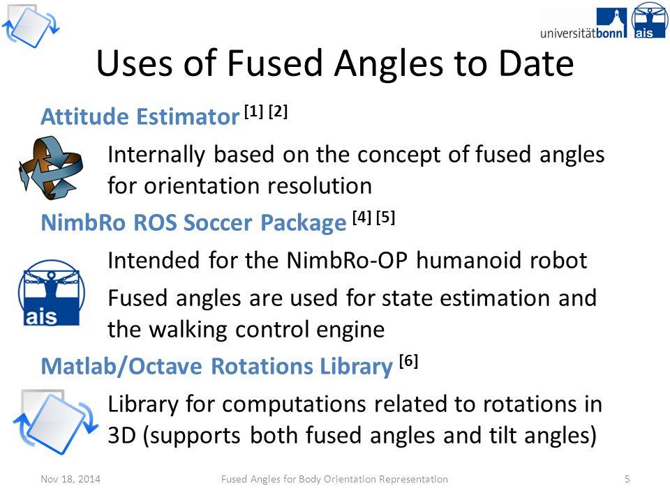 Nov 18, 2014Fused Angles for Body Orientation Representation16 Sine Sum Criterion