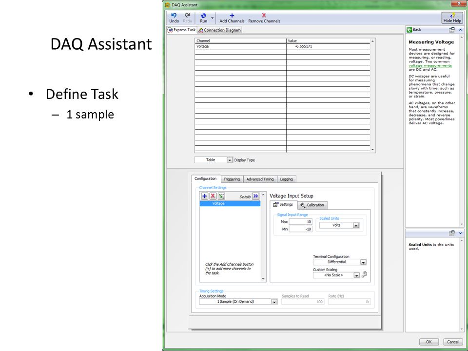Define Task – 1 sample
