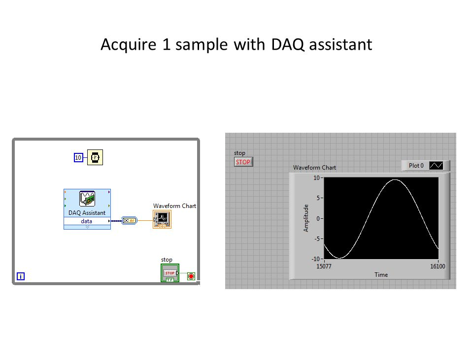 Acquire 1 sample with DAQ assistant