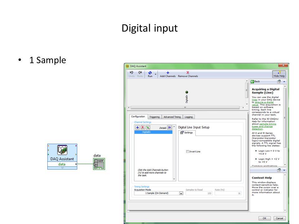 Digital input 1 Sample