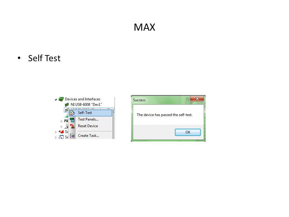 MAX Self Test