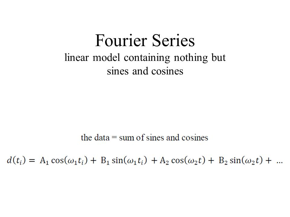 Fourier Series linear model containing nothing but sines and cosines