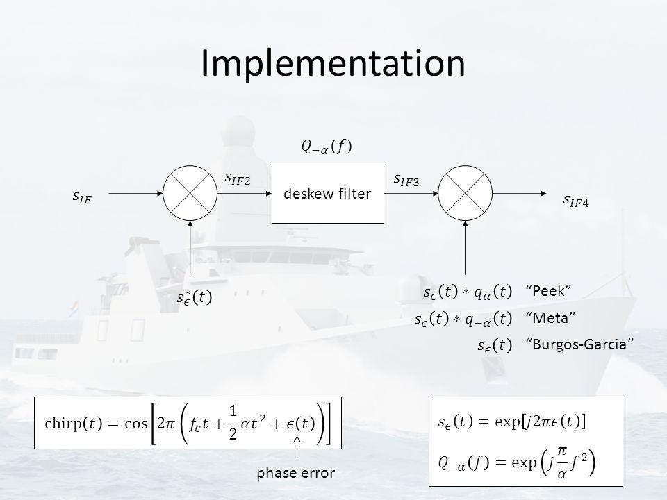 """Implementation deskew filter """"Peek"""" """"Meta"""" """"Burgos-Garcia"""" phase error"""