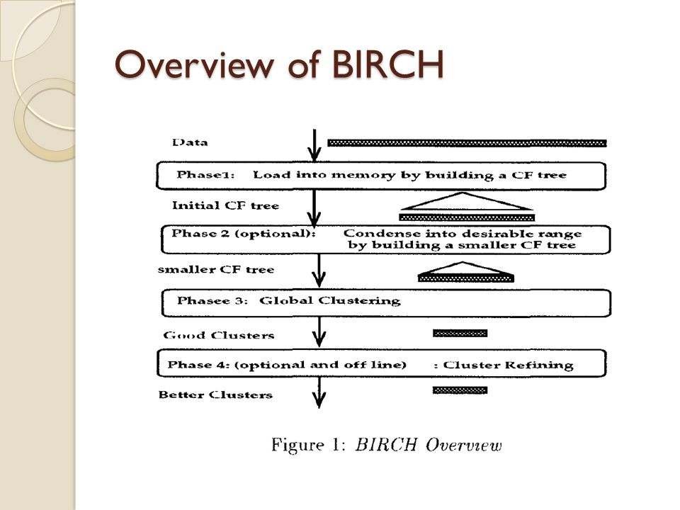 Overview of BIRCH
